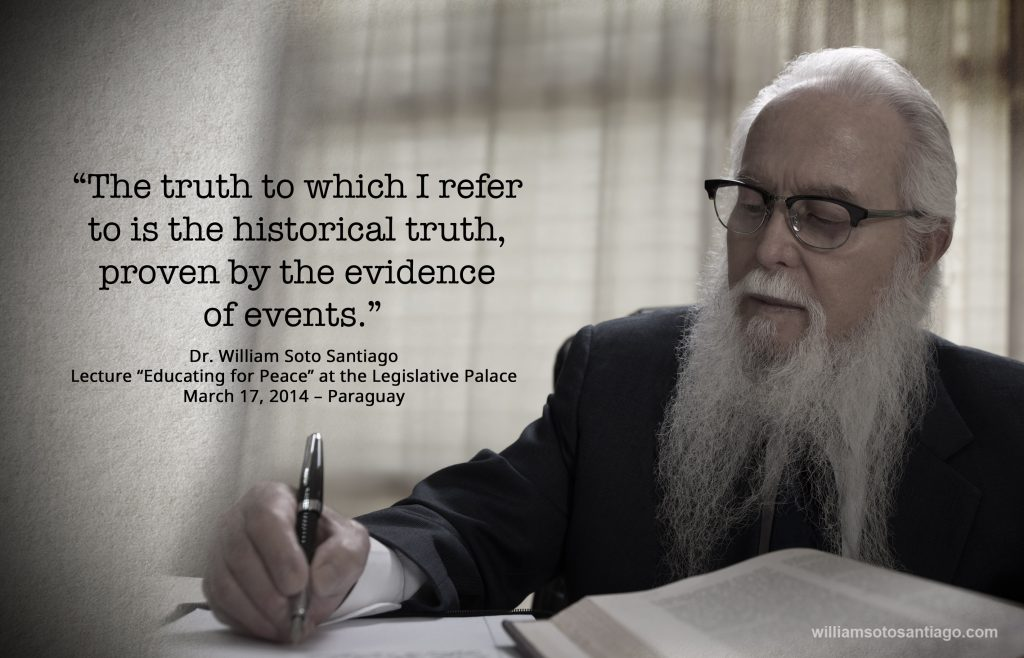 010 - The truth to which I refer to is the historical truth